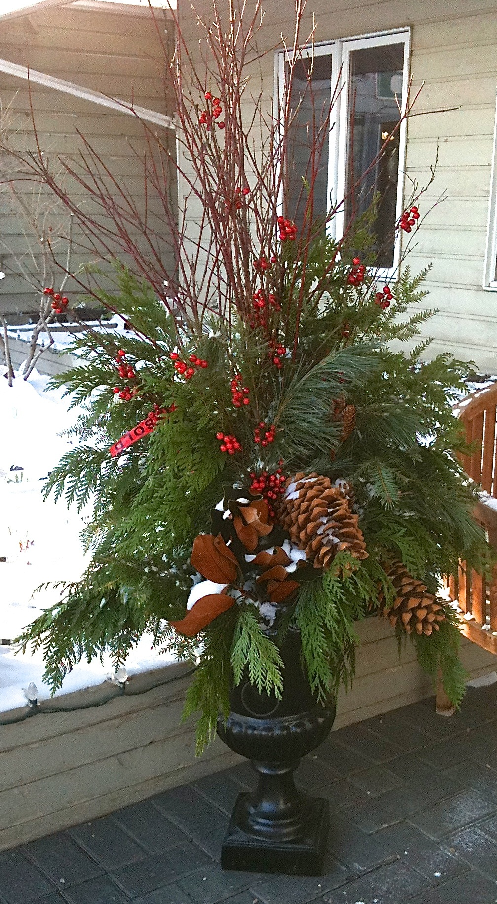 Outdoor Holiday Planters