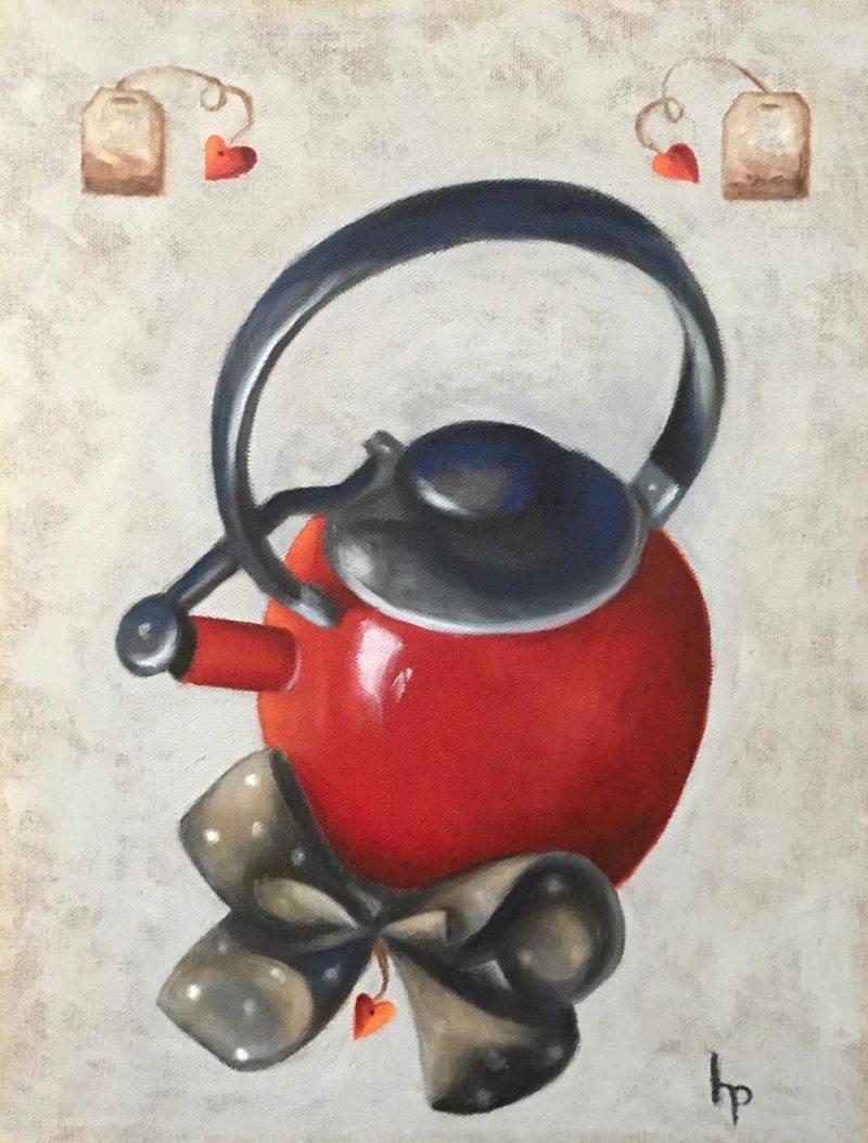 """""""Tea Time"""", Oil on Canvas, 11"""" x 14"""""""