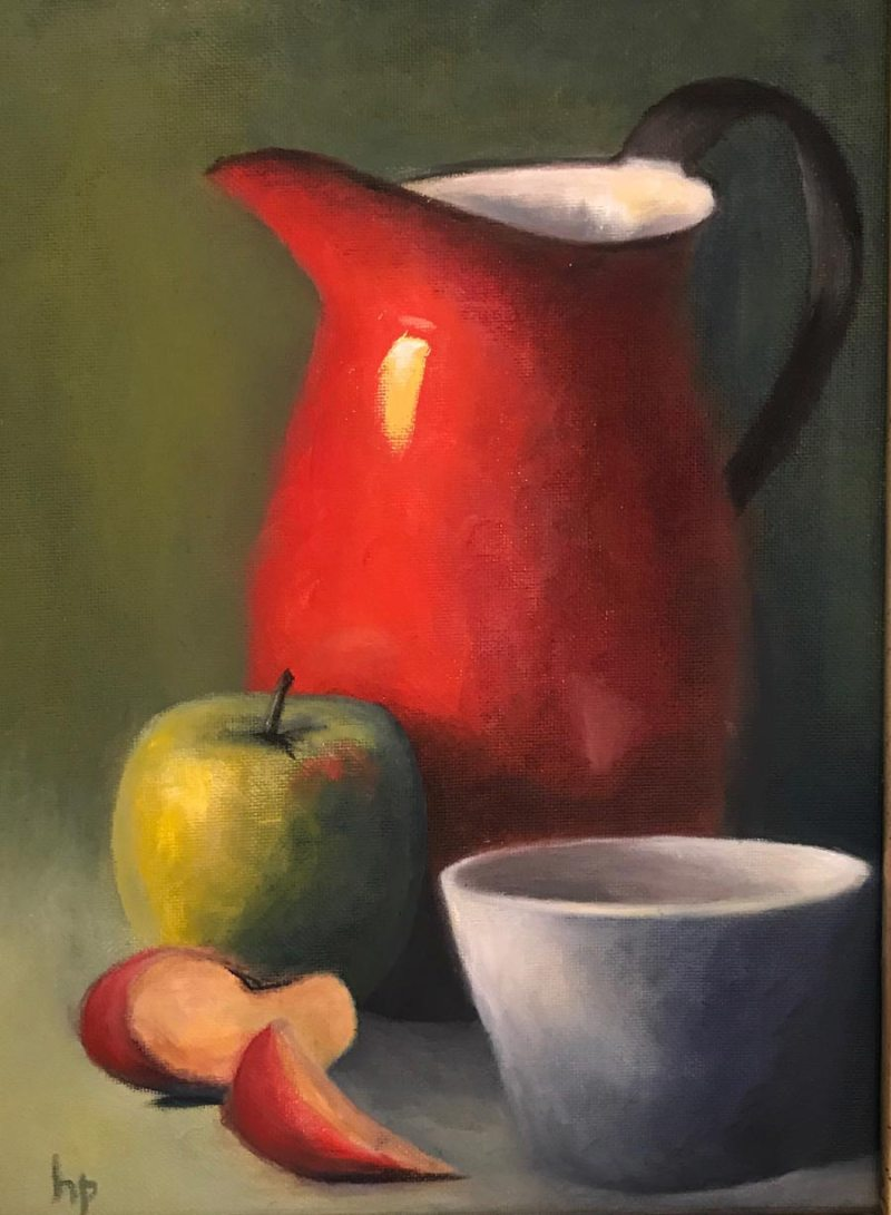 """""""Red Picture"""", Oil on Canvas, 9"""" x 11"""""""