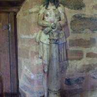 scultura lignea del Cristo eseguita da un indios guaranì