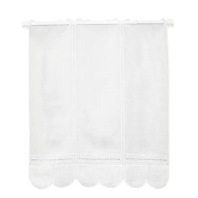 brise bise blanc blanc polyester et lin 90cm de haut le metre