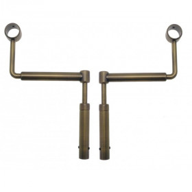 lot de 2 supports de tringle laiton sans percage reglable o25 o28 mm