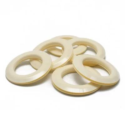 œillets rideaux a clipser 44 mm par 10 ivoire glossy