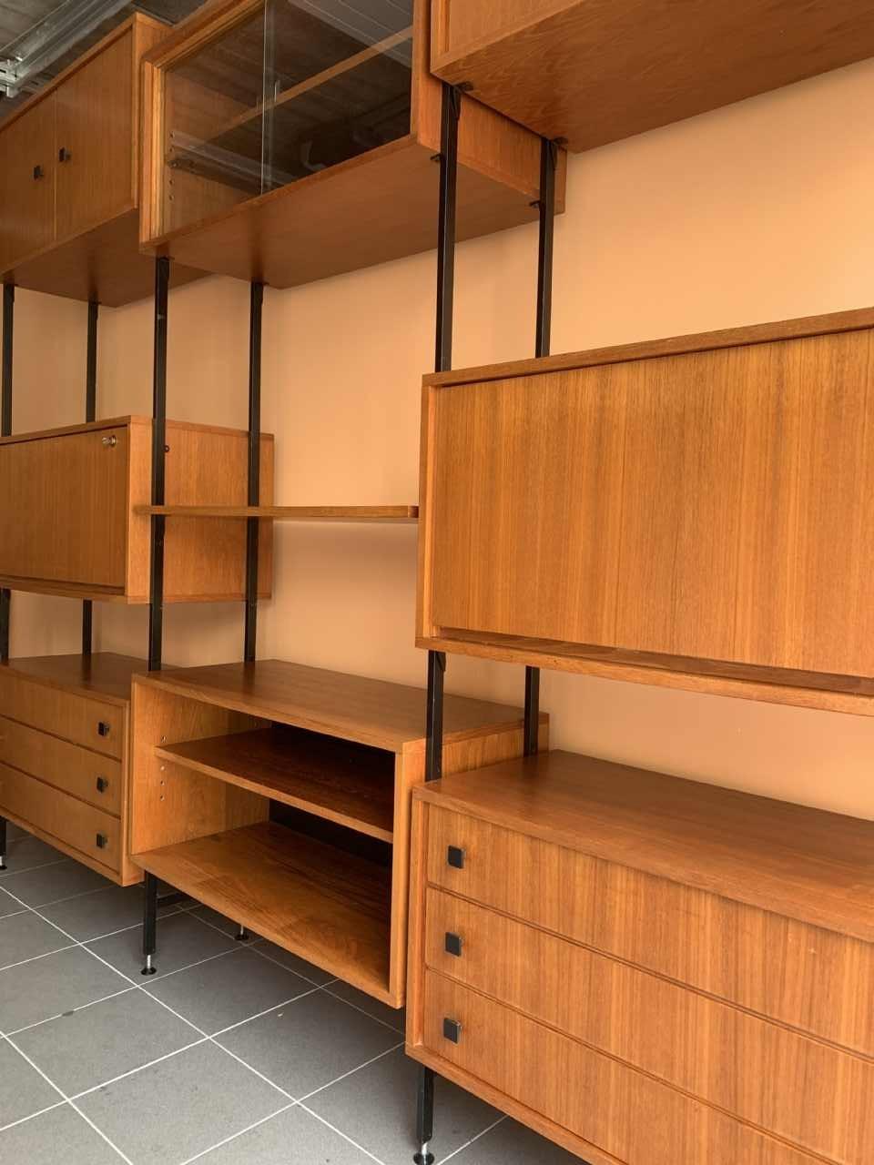 wall unit mdk en teck grand meuble