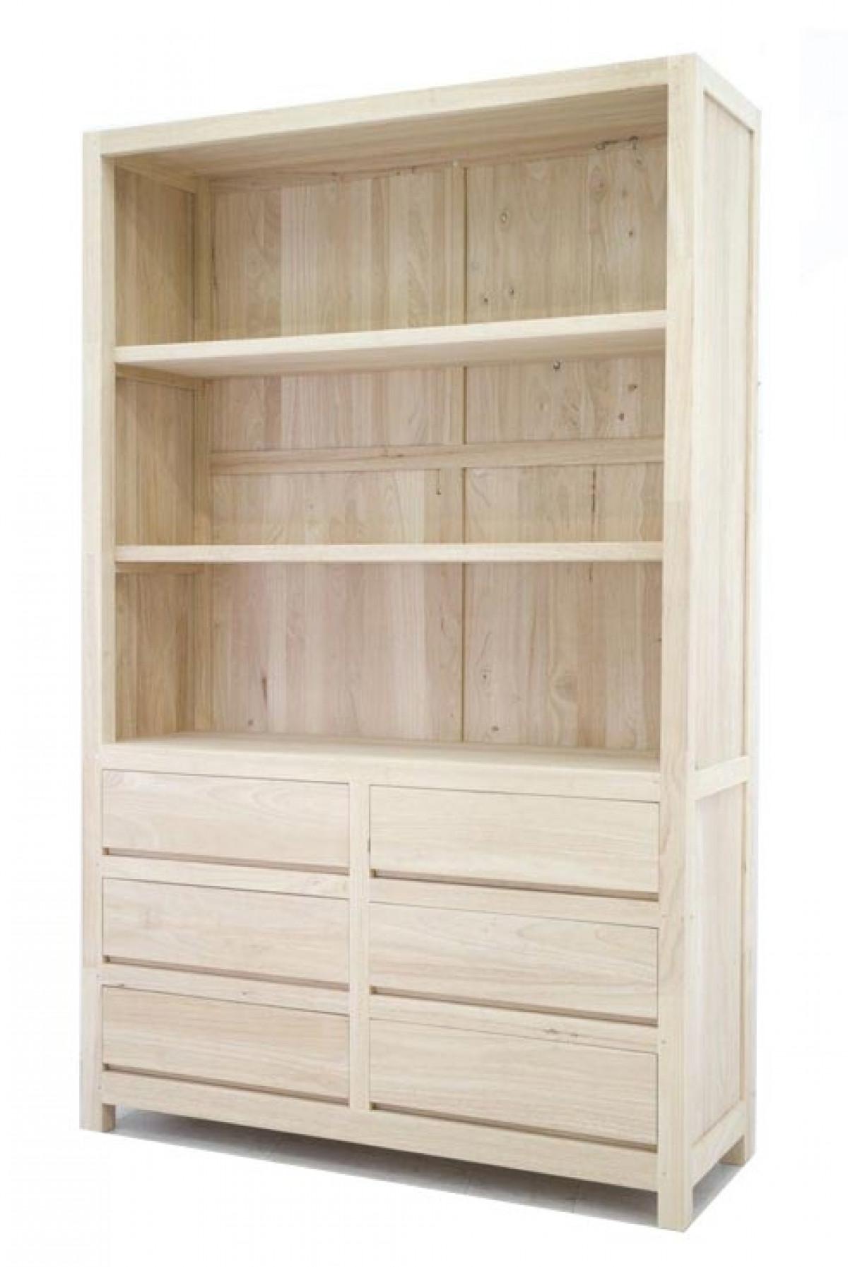 bibliotheque de rangement en bois personnalisable 120 40 190 cm