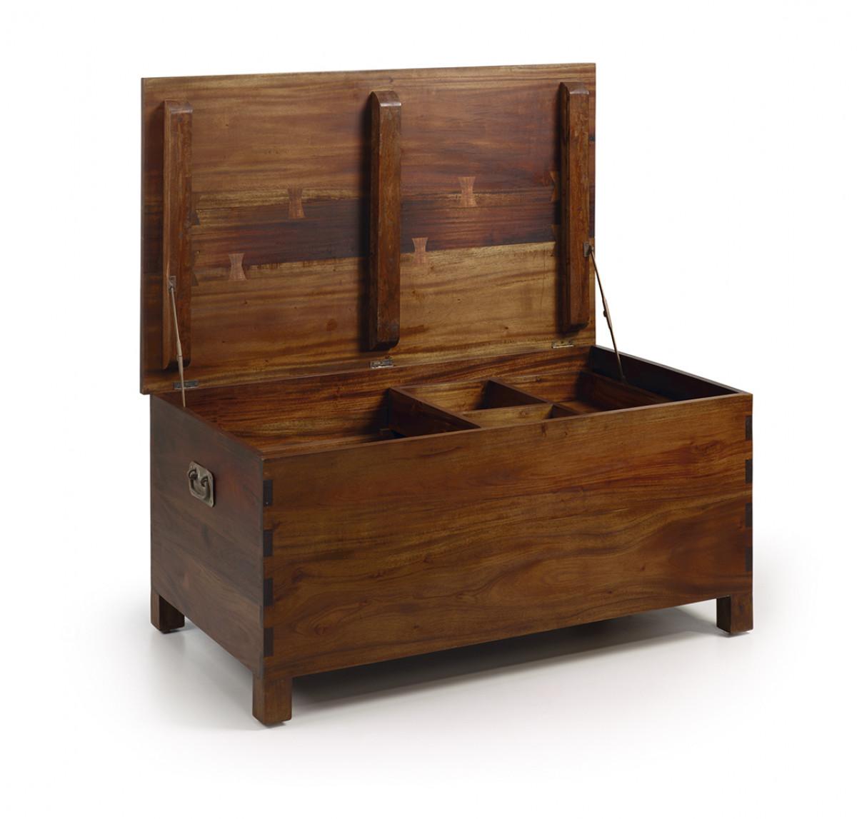 grand coffre de rangement en bois naturel 100 60 47 veland