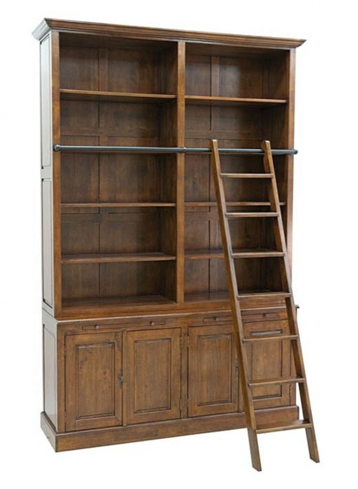 arnold grande bibliotheque avec echelle bois massif