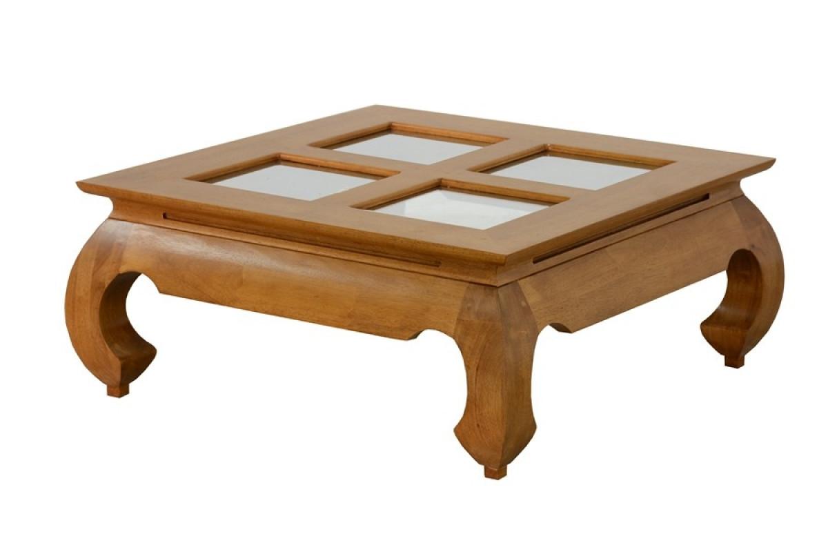 opium table basse carree verre 80 cm