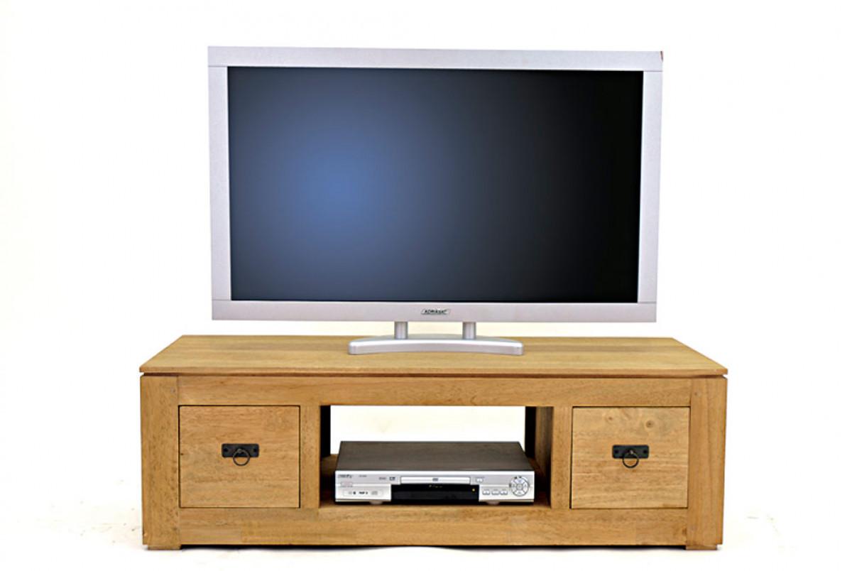 meuble tv video bas en bois recycle personnalisable