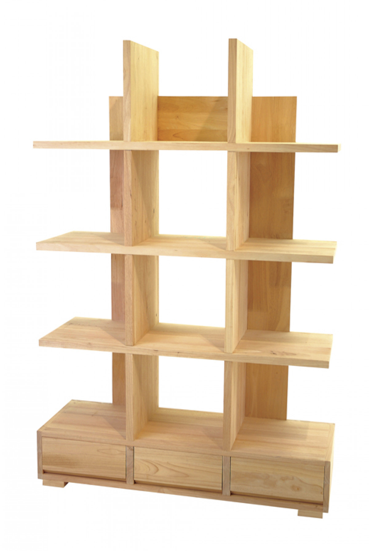 bibliotheque etagere bois 3 tiroirs