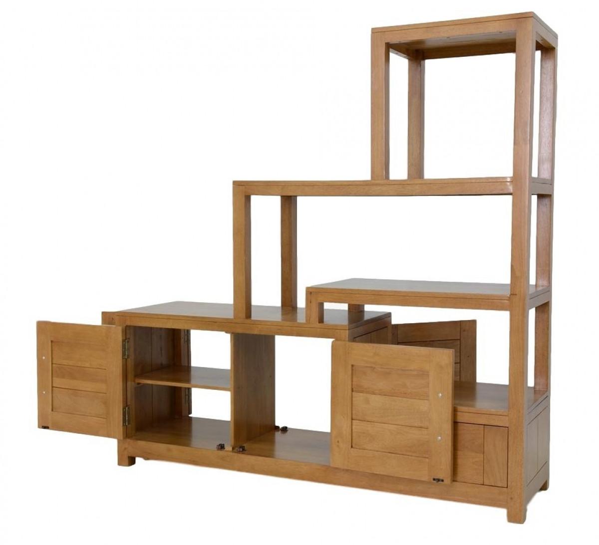 ahor meuble de separation bois recycle