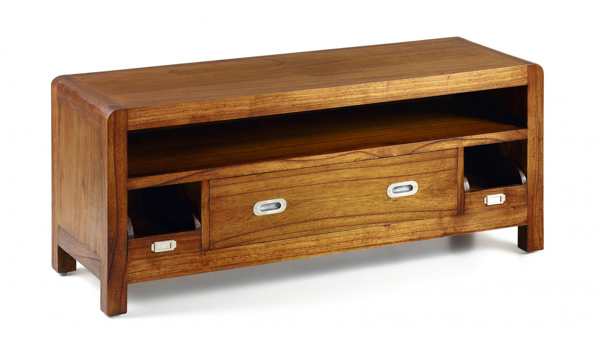 meuble tv en bois de mindi 115 40 47 cm saurus