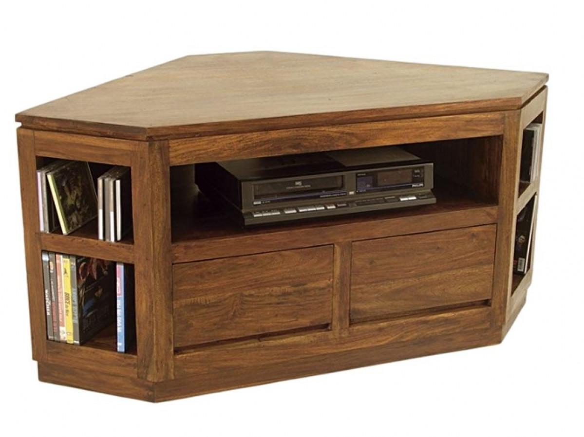 wakae meuble tv d angle palissandre massif 5 niches