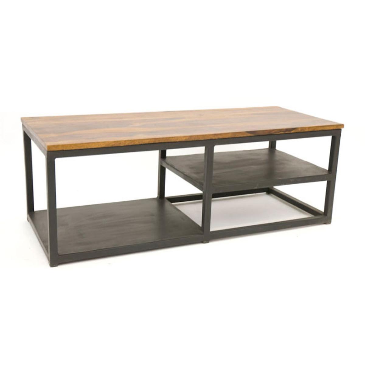 sasque meuble tv industriel bois et metal