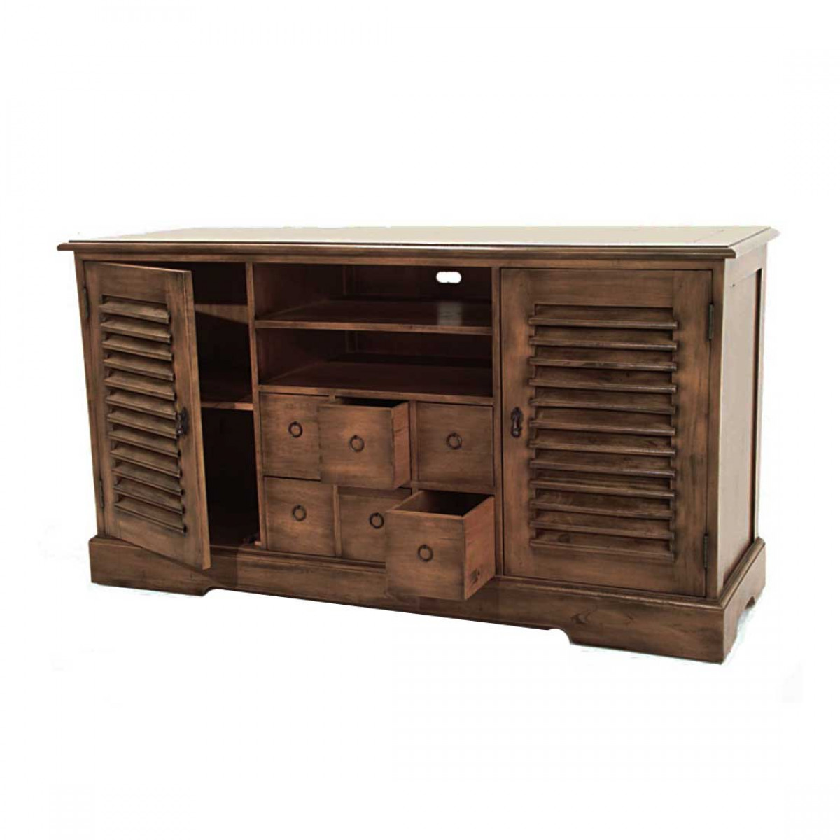 meuble buffet tv video en bois