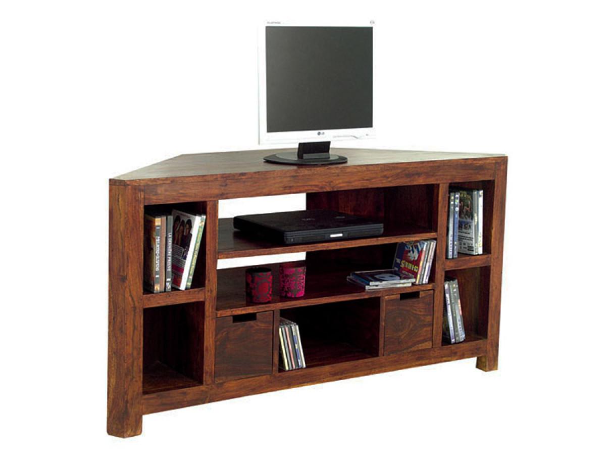 meuble tv video angle en bois de palissandre jorg
