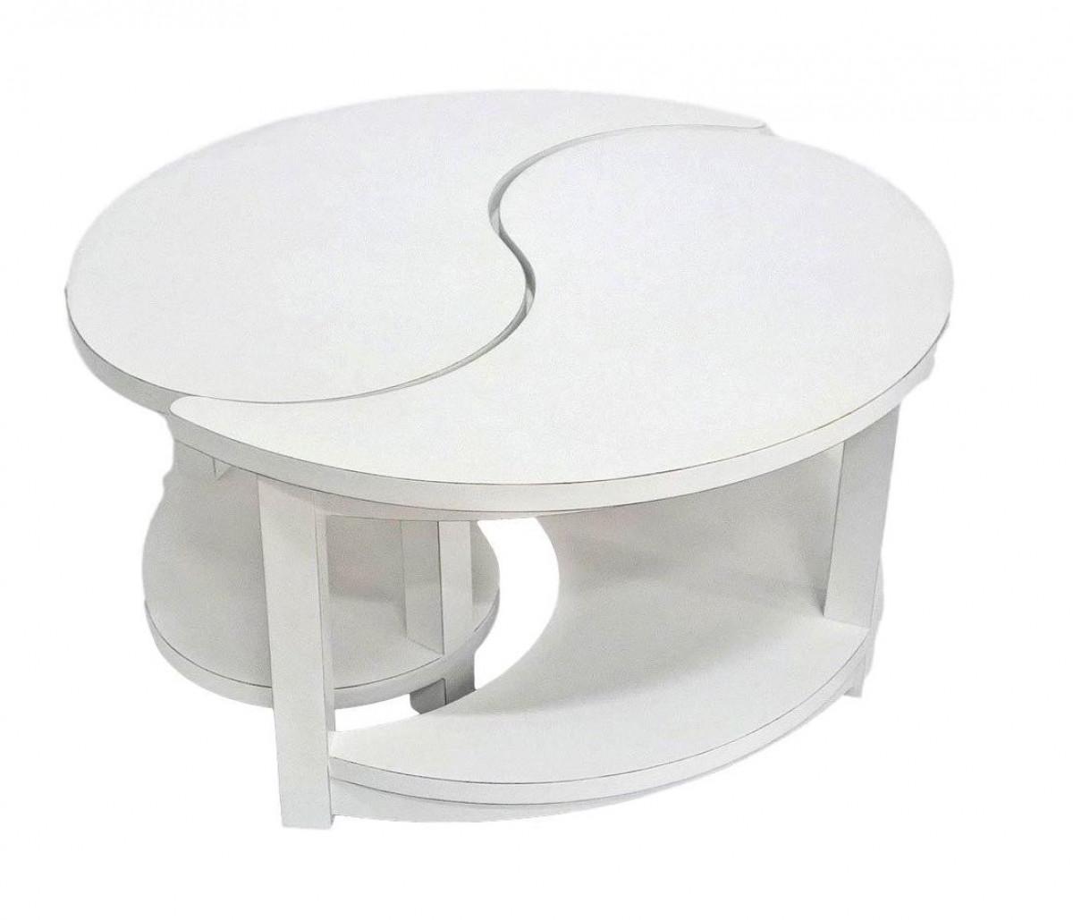 table basse ronde 2 elements jorg