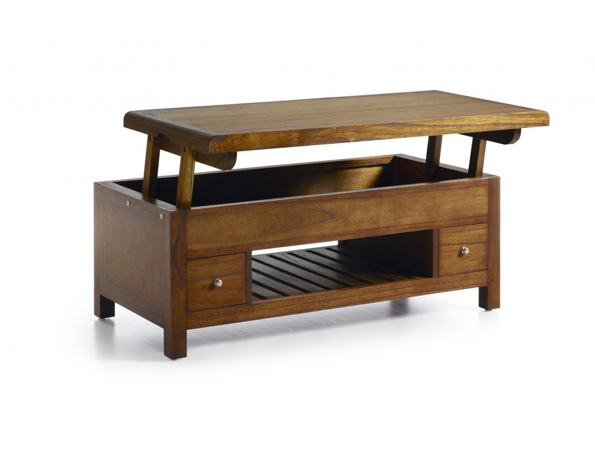 saurus table basse relevable bois mindi