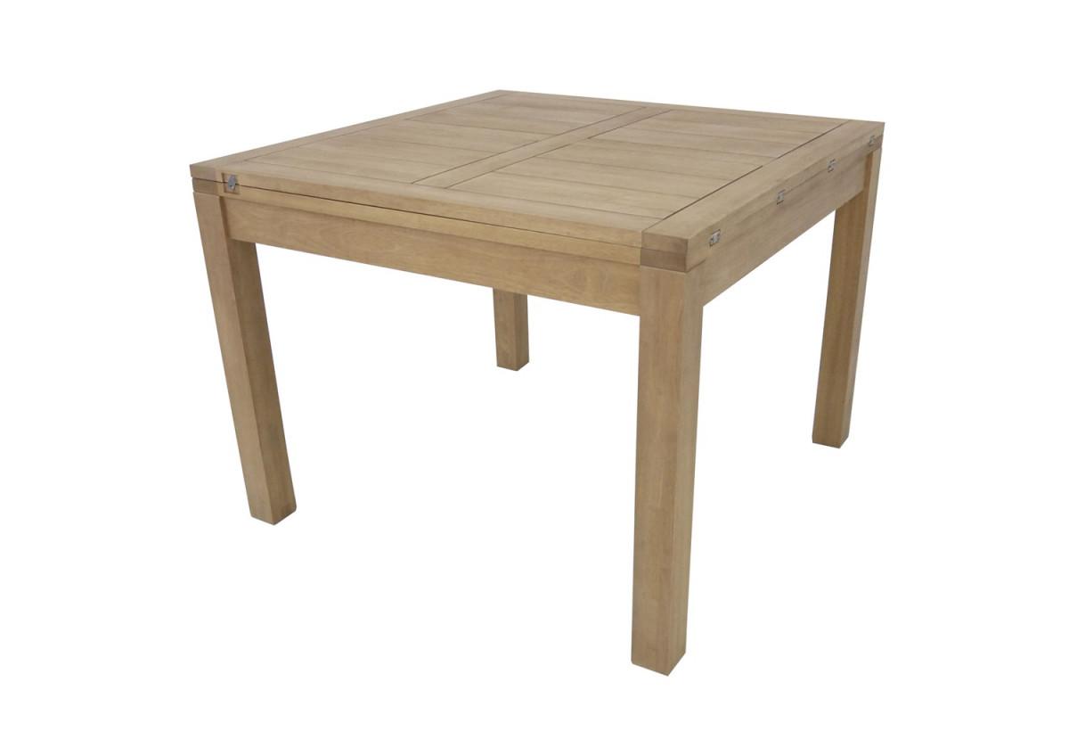 ahor table repas carree avec allonge 100 cm