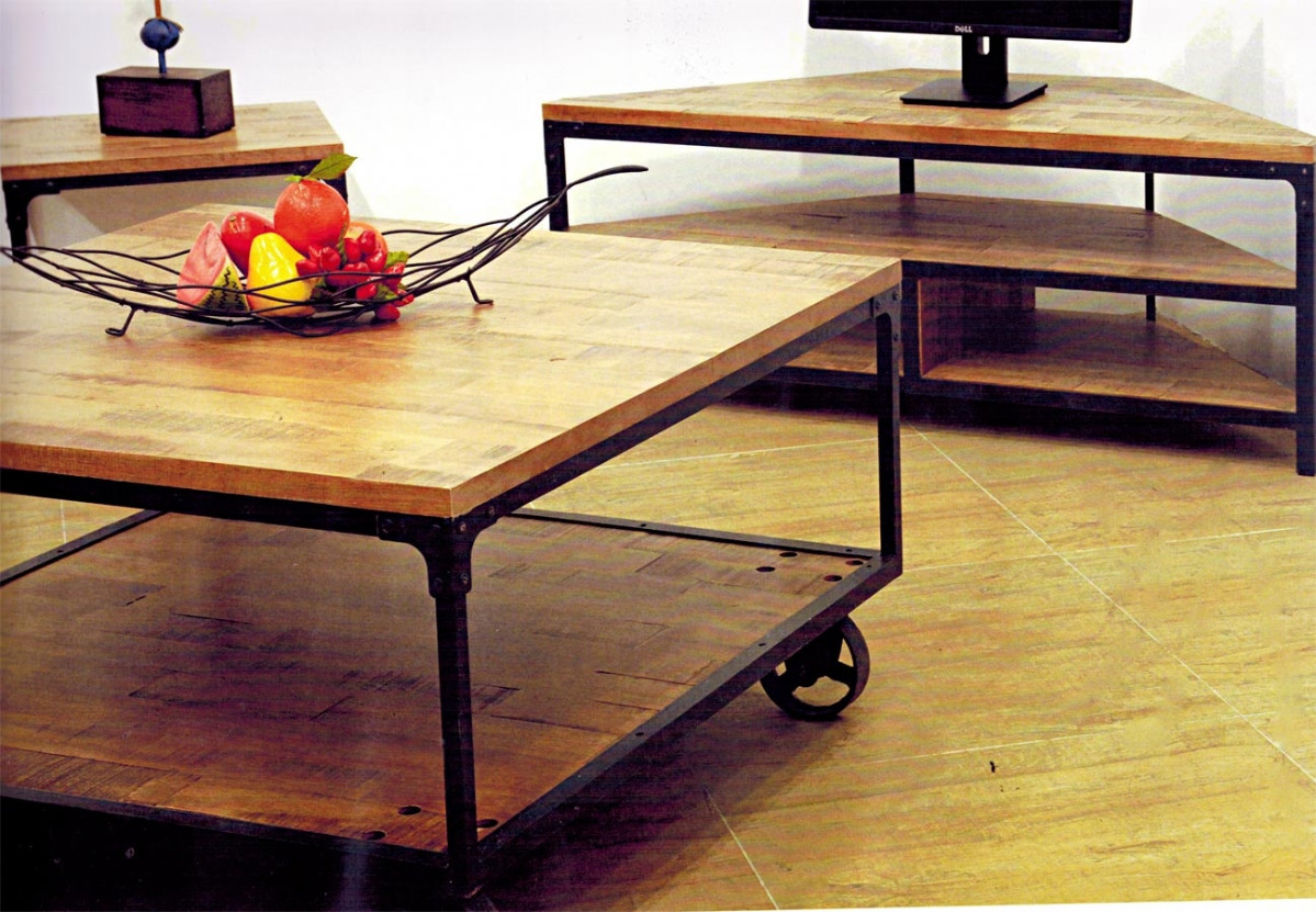 indus meuble tv d angle style industriel