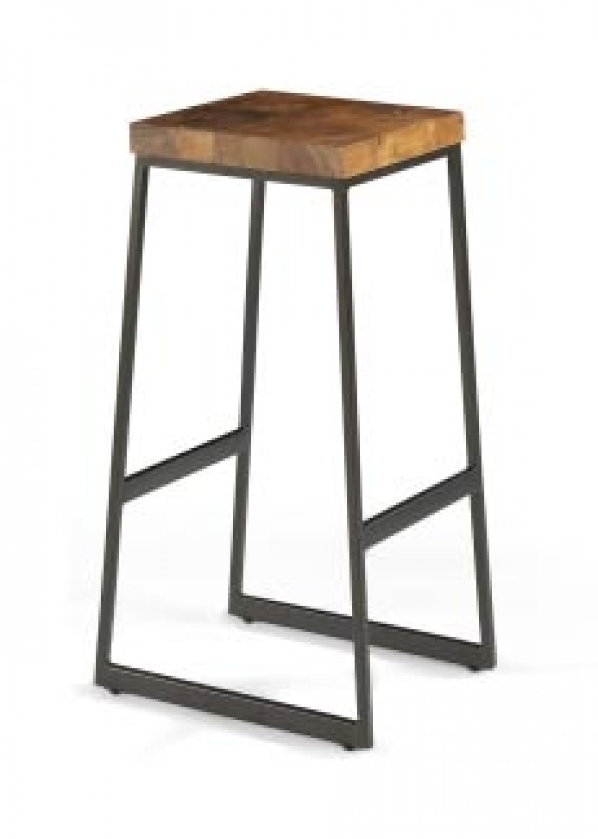 tabouret bar metal et teck