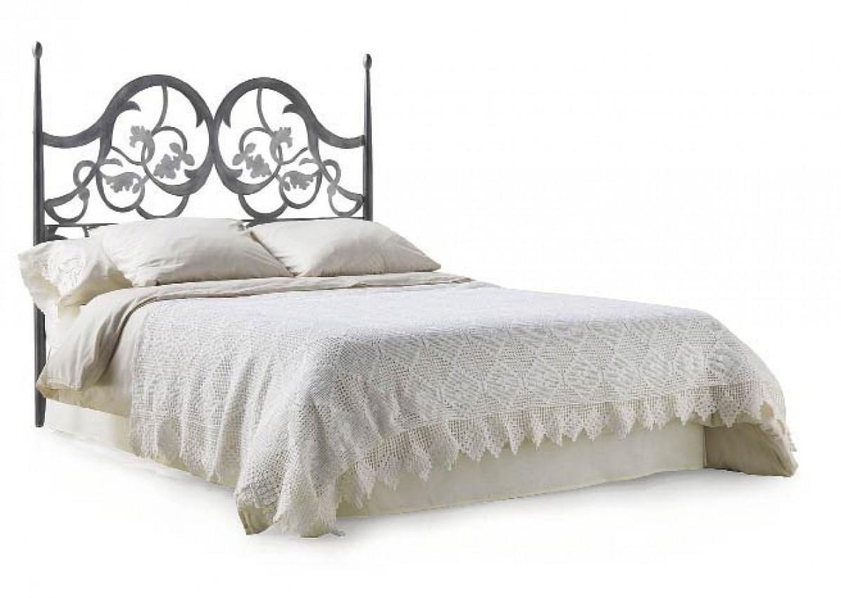 tete de lit style romantique en acier forge foralia
