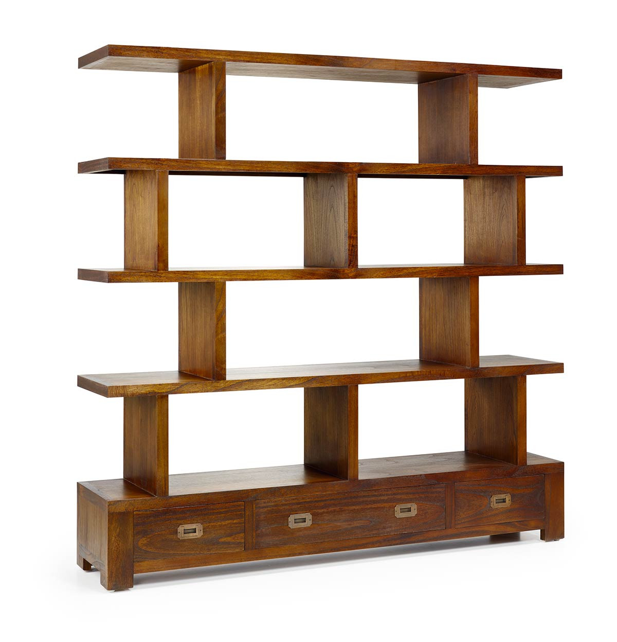 grande bibliotheque separation en bois de mindy collection mawan