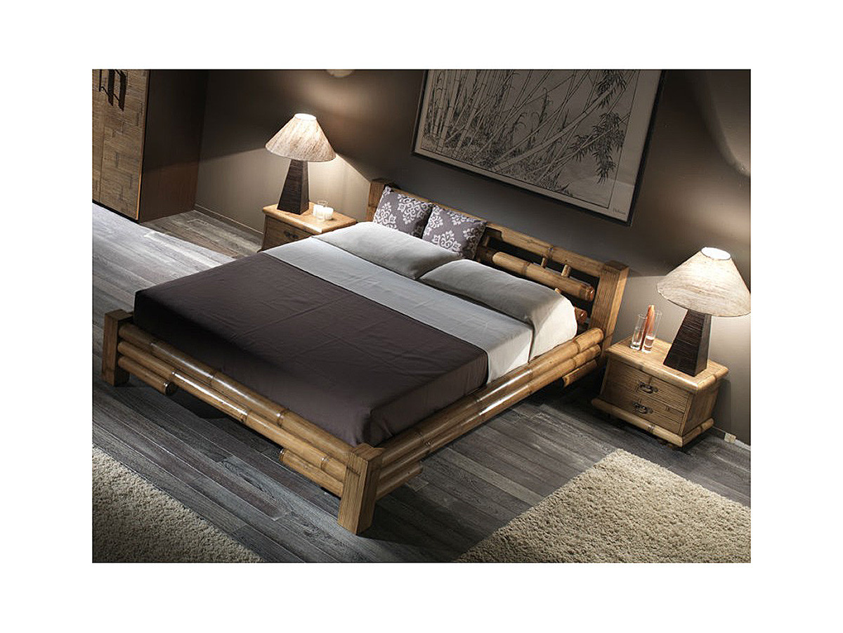 lit bambou nokia pieds carre 160x200 2 finitions