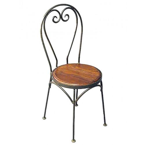 https www artbambou com set 2 chaises fer forge assise bois