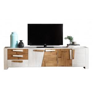 meuble bas tv bois metal ou verre