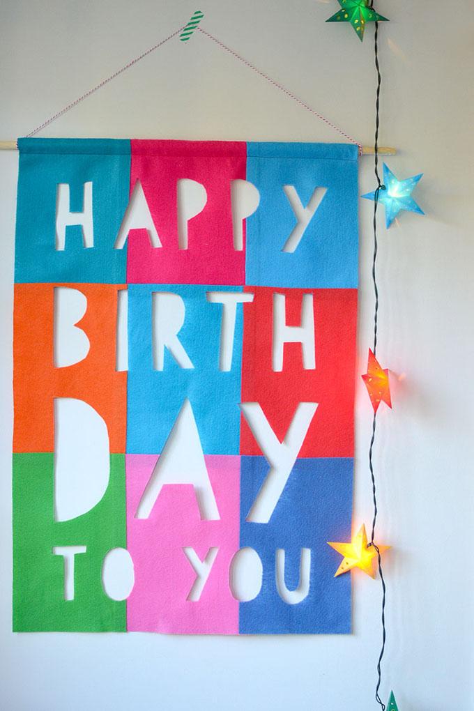 Diy Felt Birthday Banner Artbar