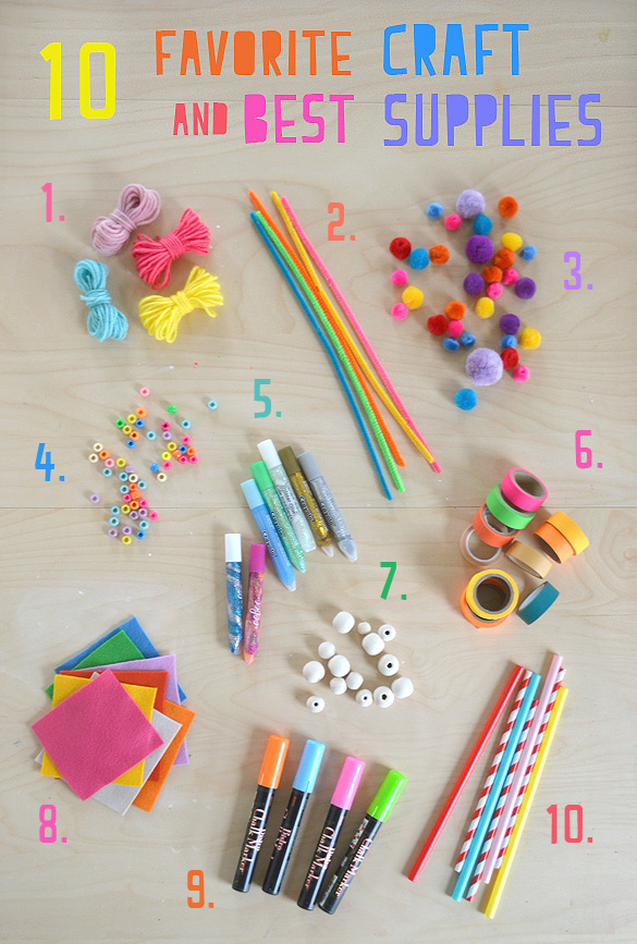 My 10 Favorite Craft Supplies For Kids ARTBAR