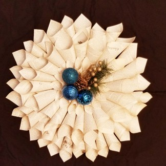 Vintage Book Paper Wreath