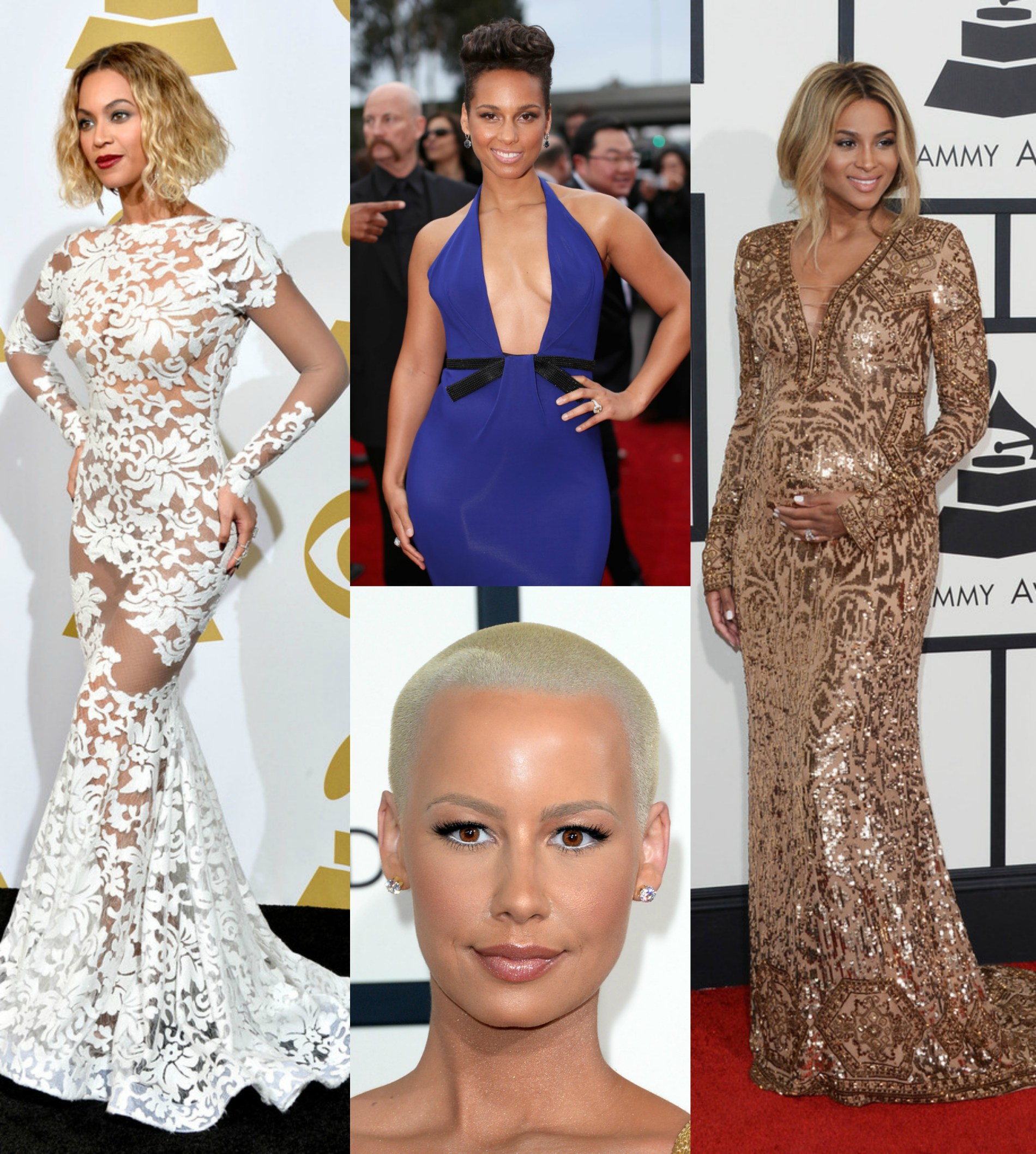 beyonce, pregnant ciara, amber rose, alicia keys at 56th Annual GRAMMY Awards