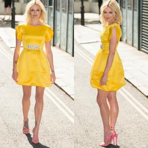 Fearne Cotton's Fearne x Very Yellow Petal Sleeve Prom Dress