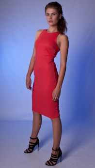 Red Bodycon Cut Out Back Dress