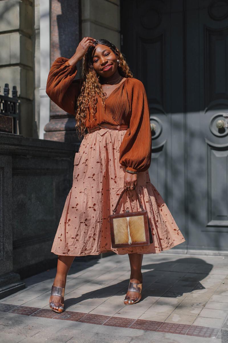 asos design cutwork midi skirt