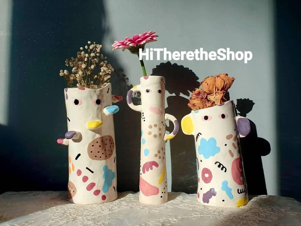 The Uncanny Collection - Handmade ceramic vase, home décor, garden décor, indoor outdoor vase.