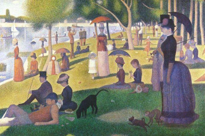 Tarde domingo en la isla de la Grande Jatte (1884-1886)
