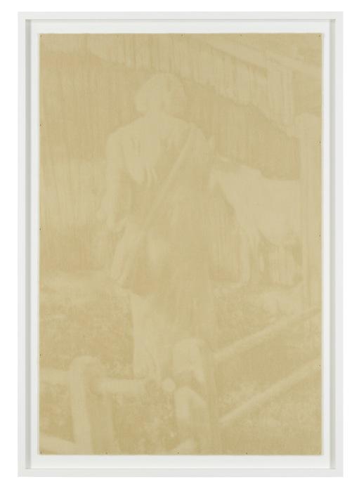 """Tobias Hantmann """"Der erste Hirte (3.Version)"""", gekämmter Teppich (gerahmt) 170 x 120 cm, 2011 (Foto: Lothar Schnepf) courtesy: Galerie Bernd Kugler"""