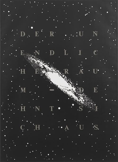 rune-mields-genesis-galaxis-diptychon-1-20-jahrhundert-und-griechische-antike-1996-aquatec-auf-leinen-je-200x145cm-foto-ben-hermanni-courtesy-judith-andreae