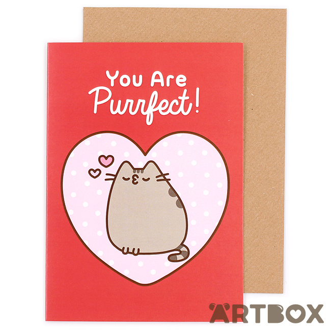 Pusheen Valentines Box Cards
