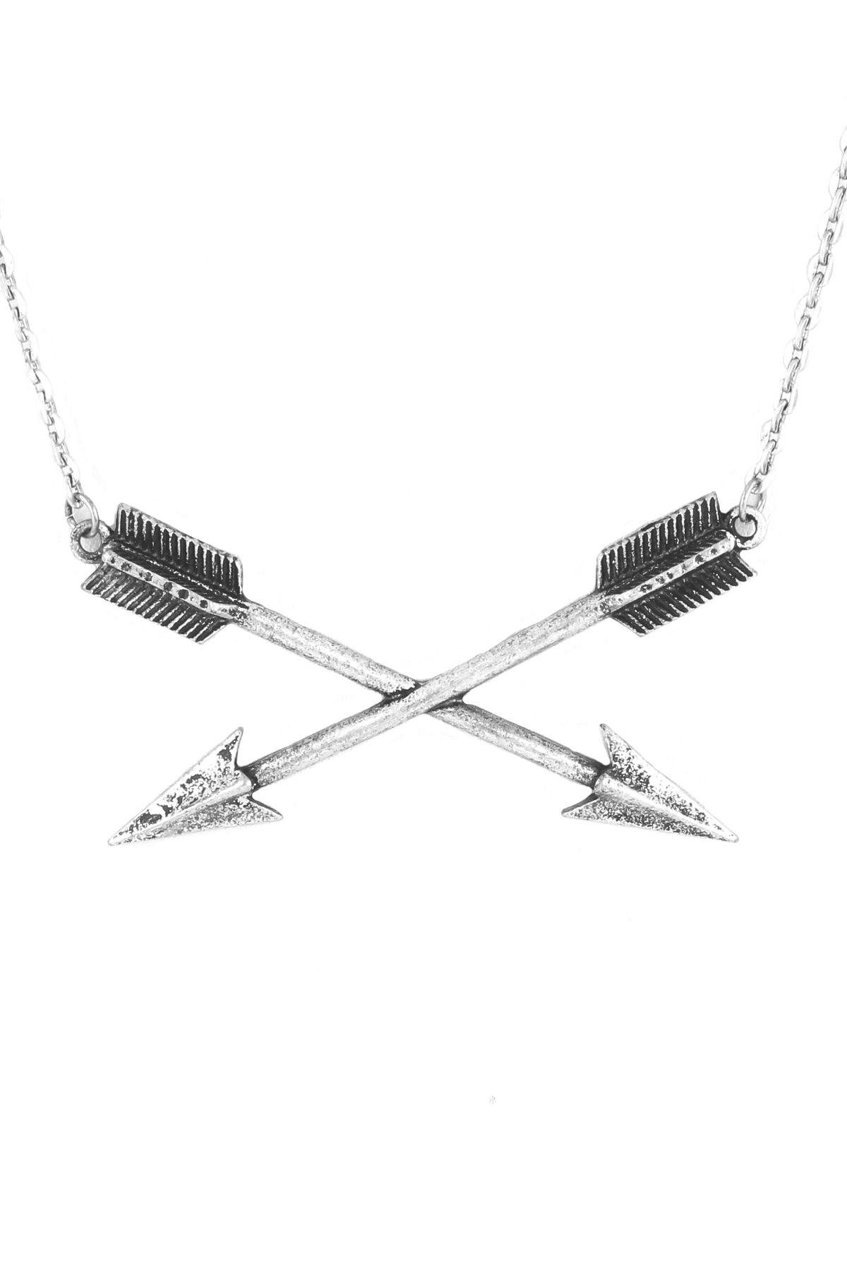 Double Arrow Necklace Set