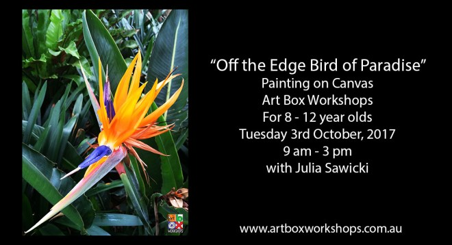 Bird of paradise painting on canvas