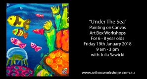 under the sea painting at Art Box Workshops