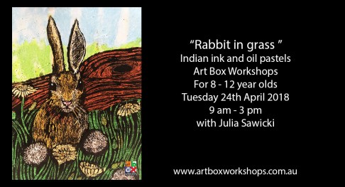 Easter rabbit painting from Art box Workshops