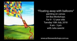 "art Box Workshops ""Floating Away with Balloons Painting Workshop"