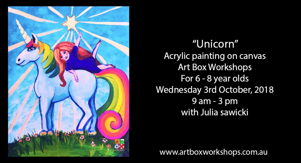 painting of a unicorn at Art Box Workshops