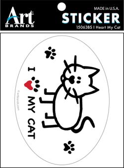 I HEART MY CAT STICKERS