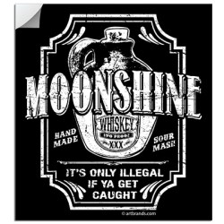 MOONSHINE WHISKEY STICKERS